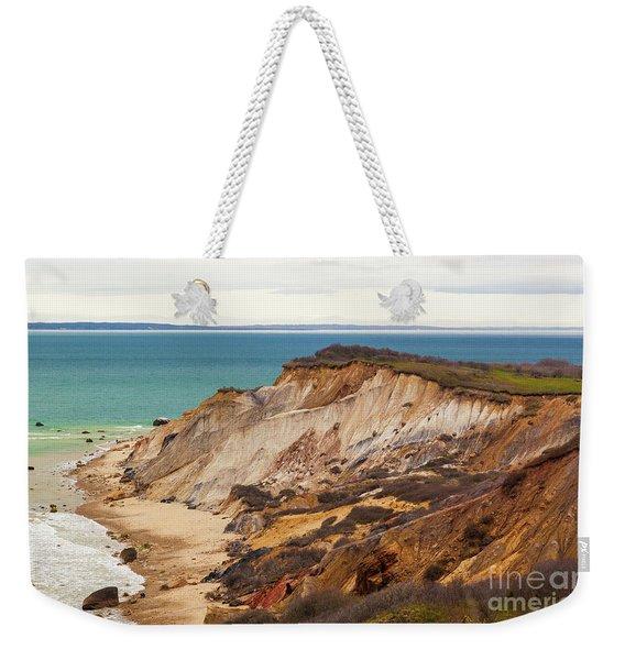 Colorful Clay Cliffs On The Vineyard Weekender Tote Bag