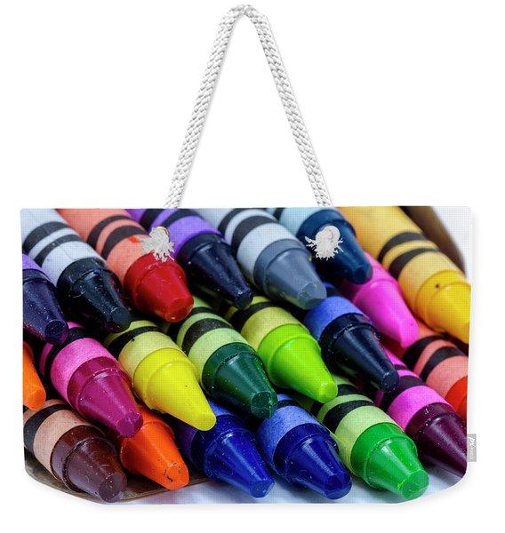 Colorful Crayons Weekender Tote Bag