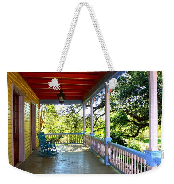 Colorful Creole Porch Weekender Tote Bag