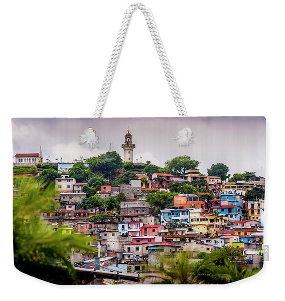 Colorful Houses On The Hill Weekender Tote Bag