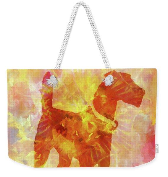 Colorful Dog Weekender Tote Bag