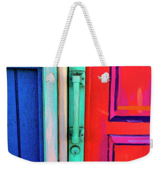 Colorful Doors Real And Otherwise Weekender Tote Bag