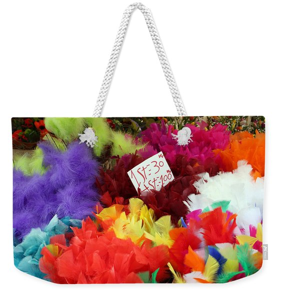 Colorful Easter Feathers Weekender Tote Bag