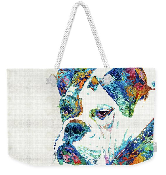 Colorful English Bulldog Art By Sharon Cummings Weekender Tote Bag