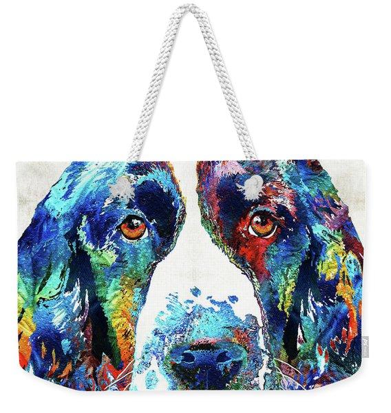 Colorful English Springer Spaniel Dog By Sharon Cummings Weekender Tote Bag