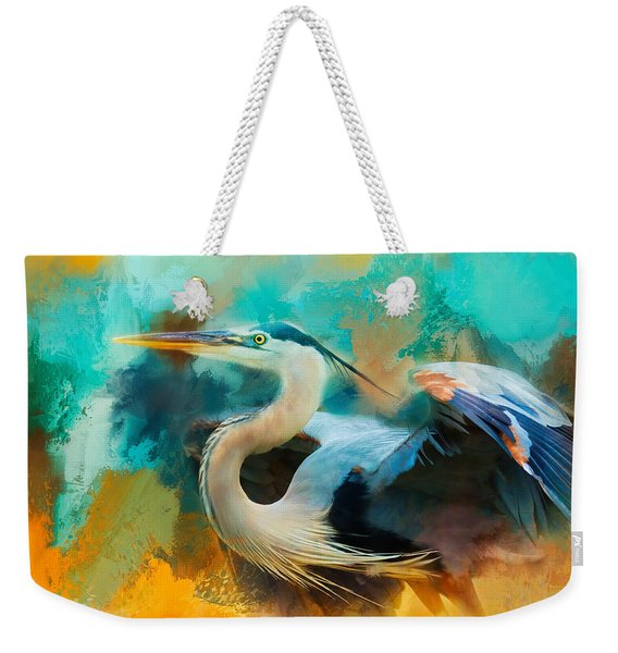 Colorful Expressions Heron Weekender Tote Bag