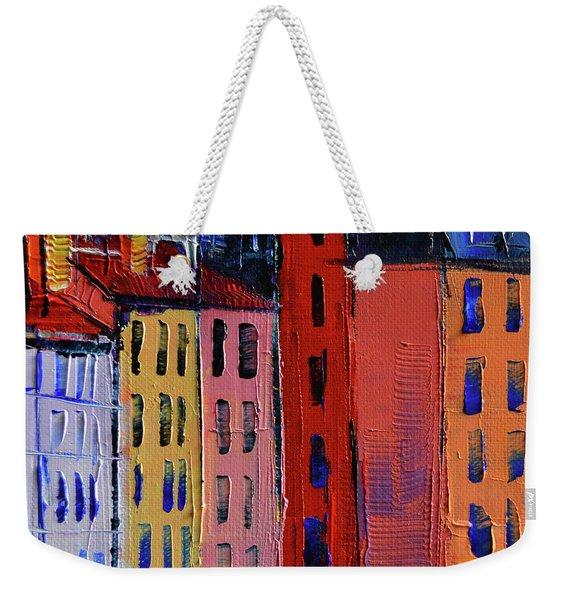 Colorful Facades Weekender Tote Bag