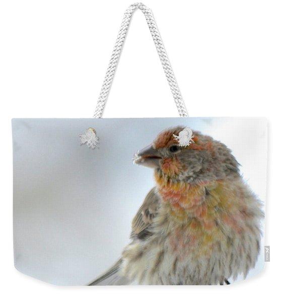 Colorful Finch Eating Breakfast Weekender Tote Bag