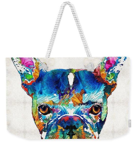 Colorful French Bulldog Dog Art By Sharon Cummings Weekender Tote Bag