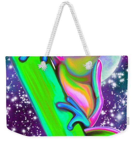 Colorful Frog In The Moonlight Weekender Tote Bag