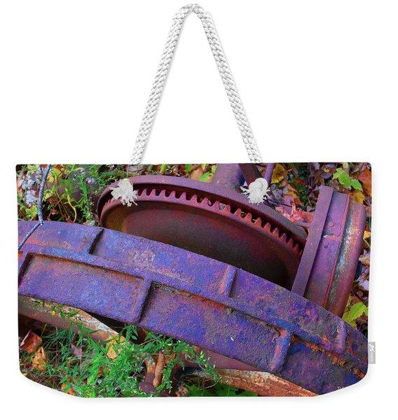 Colorful Gear Weekender Tote Bag