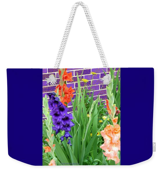 Colorful Gladiolas Weekender Tote Bag