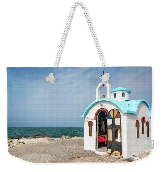 Colorful Greek Chapel Weekender Tote Bag
