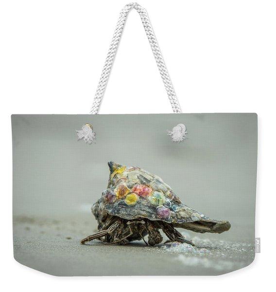 Colorful Hermit Crab Weekender Tote Bag