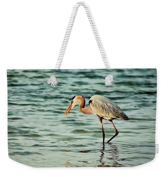 Colorful Heron Weekender Tote Bag