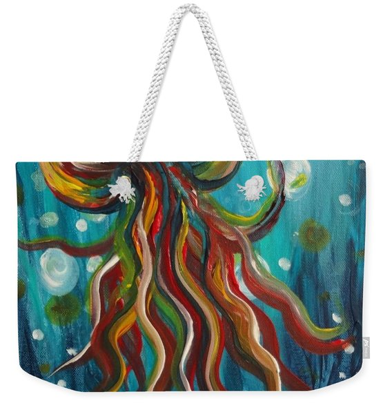 Colorful Jellyfish Weekender Tote Bag