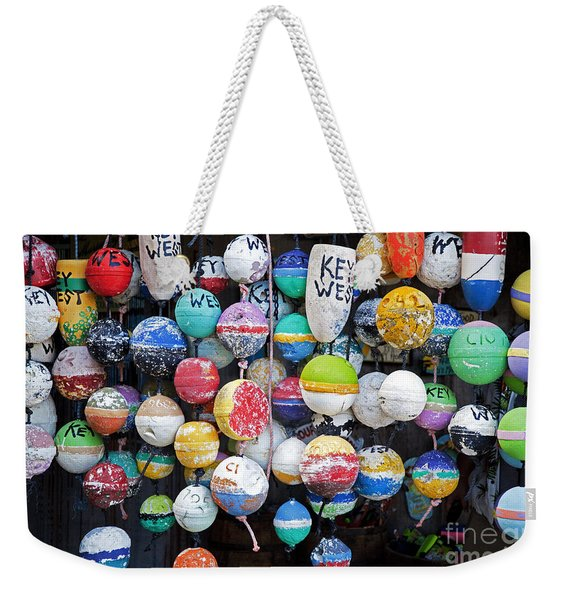 Colorful Key West Lobster Buoys Weekender Tote Bag