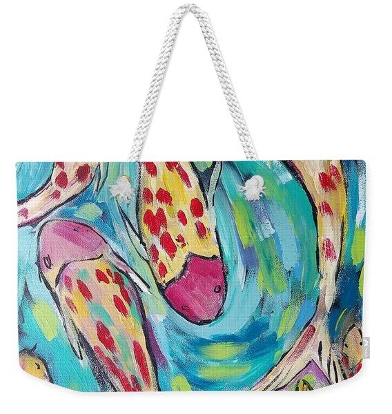 Colorful Koi Fish #1 Weekender Tote Bag