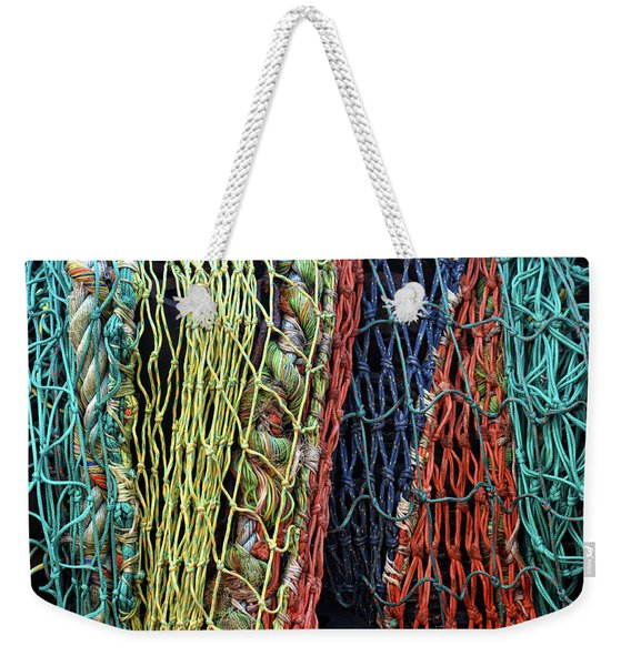 Colorful Layers Of Fishing Nets Weekender Tote Bag