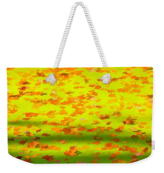 Colorful Leaves On Canal Weekender Tote Bag