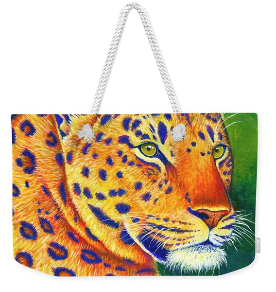 Colorful Leopard Portrait Weekender Tote Bag