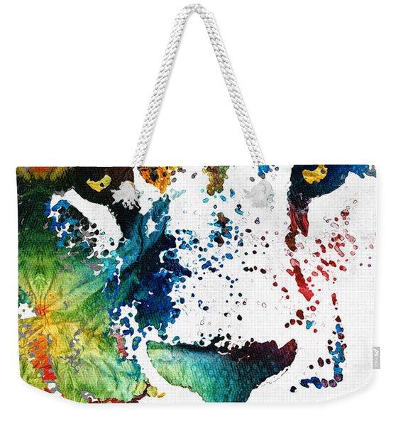 Colorful Lion Art By Sharon Cummings Weekender Tote Bag