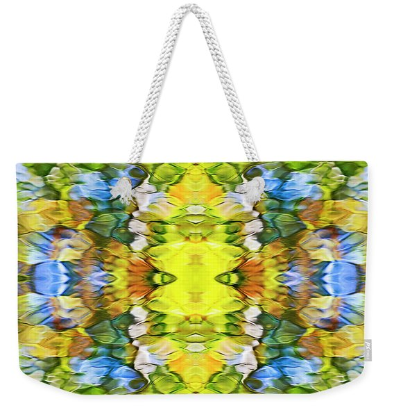 Colorful Liquid Pattern Weekender Tote Bag