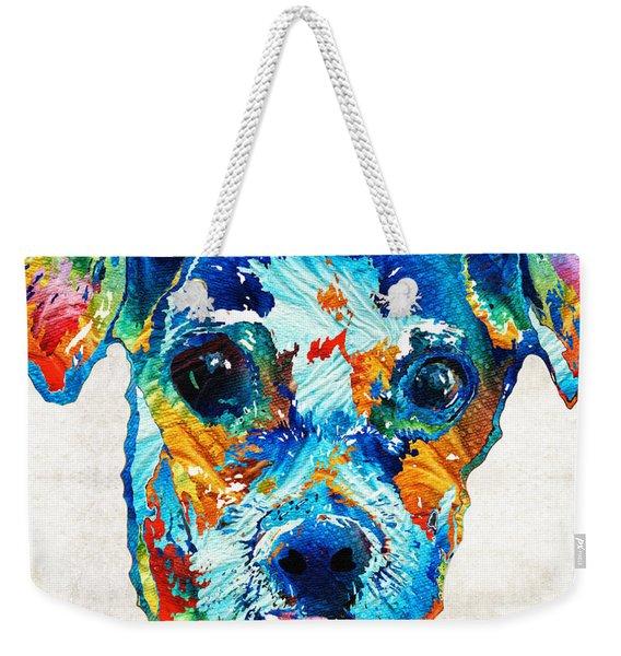 Colorful Little Dog Pop Art By Sharon Cummings Weekender Tote Bag