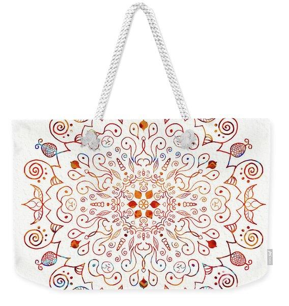 Colorful Mandala On Watercolor Paper Weekender Tote Bag