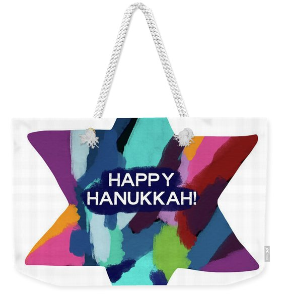 Colorful Modern Hanukkah- Art By Linda Woods Weekender Tote Bag