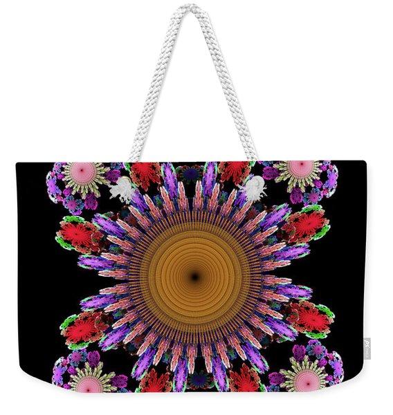 Colorful Ornate Flower Weekender Tote Bag