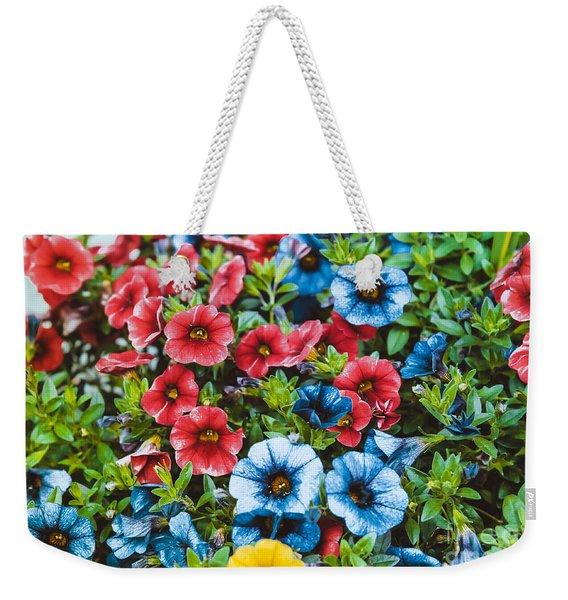 Colorful Petunias 2 Weekender Tote Bag
