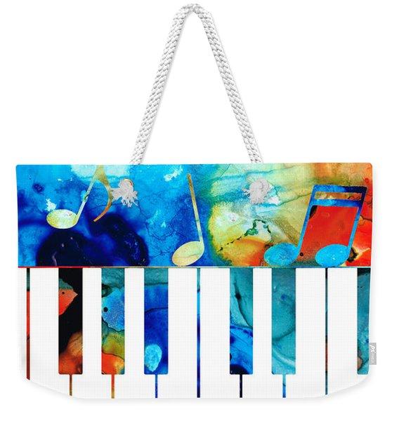 Colorful Piano Art By Sharon Cummings Weekender Tote Bag