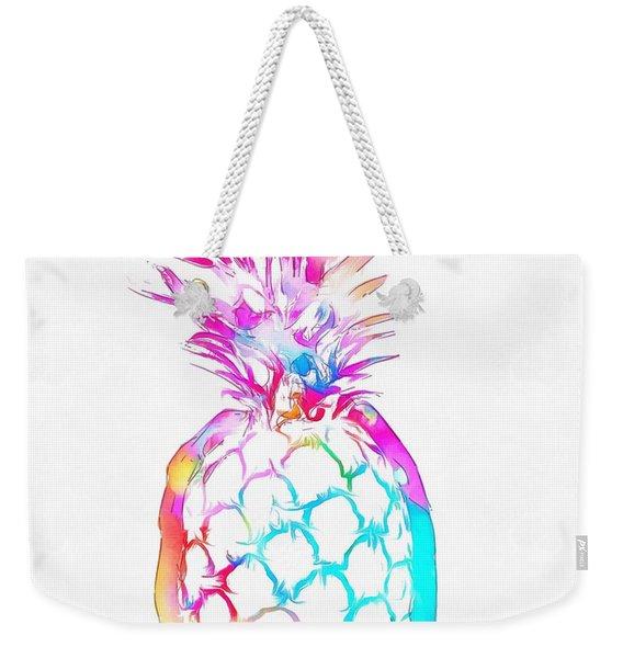 Colorful Pineapple Weekender Tote Bag