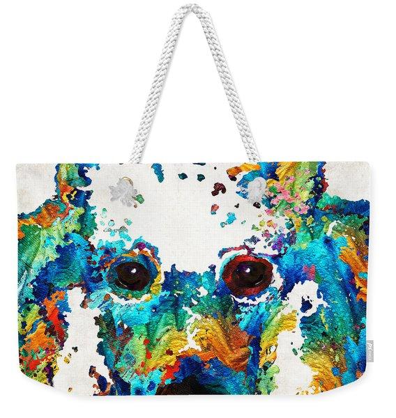 Colorful Poodle Dog Art By Sharon Cummings Weekender Tote Bag