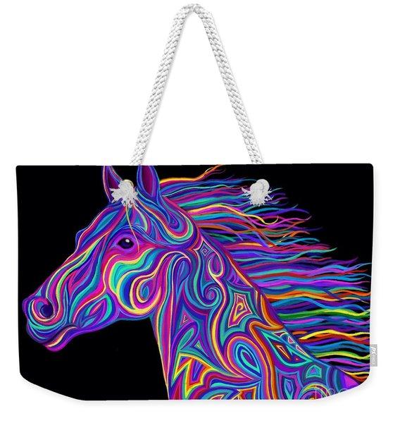 Colorful Rainbow Stallion  Weekender Tote Bag