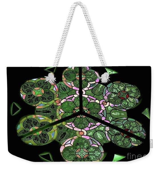 Colorful Rosette In Pink-green Weekender Tote Bag