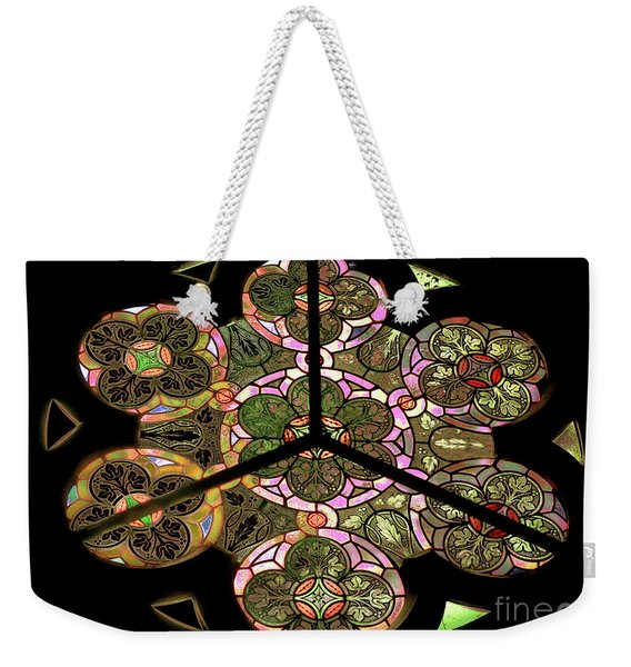 Colorful Rosette In Pink-turquoise Weekender Tote Bag
