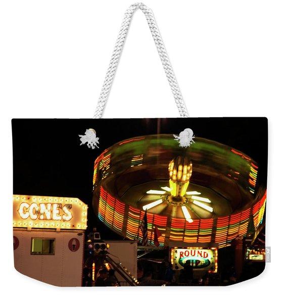 Colorful Round Up Wheel Weekender Tote Bag