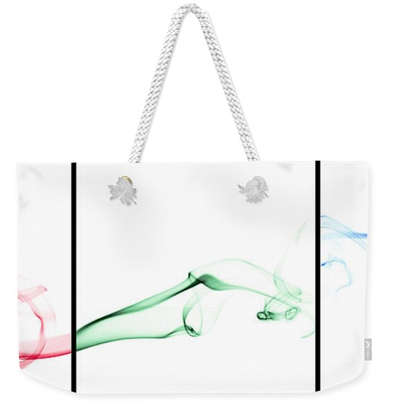 Colorful Smoke II - Rgb Triptych Weekender Tote Bag