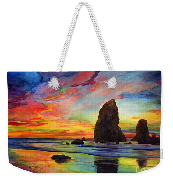 Colorful Solitude Weekender Tote Bag