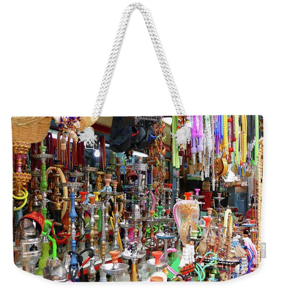 Weekender Tote Bag featuring the photograph Colorful Space by Arik Baltinester
