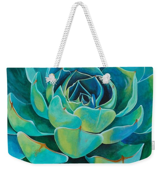 Colorful Succulent Weekender Tote Bag