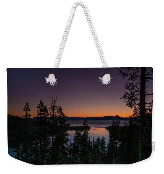 Colorful Sunrise In Emerald Bay Weekender Tote Bag