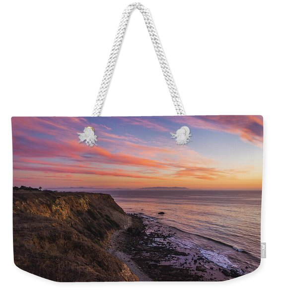 Colorful Sunset At Golden Cove Weekender Tote Bag
