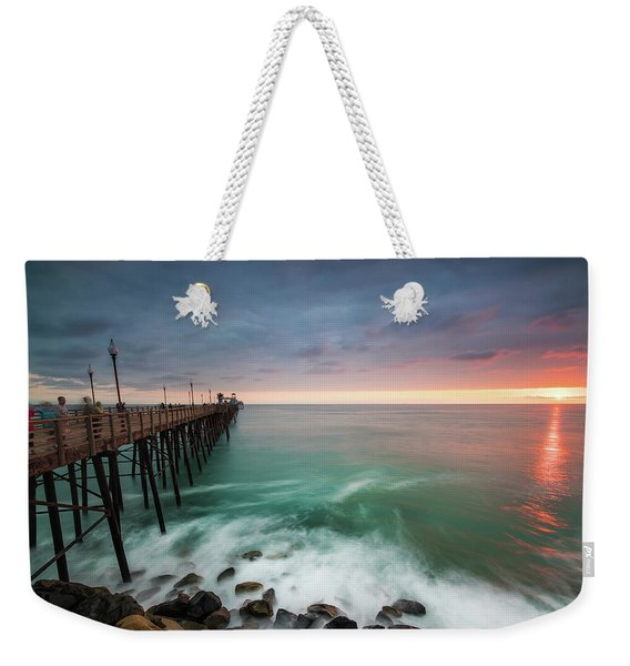 Colorful Sunset At The Oceanside Pier Weekender Tote Bag