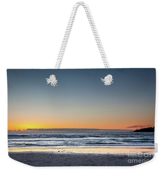 Colorful Sunset Over A Desserted Beach Weekender Tote Bag