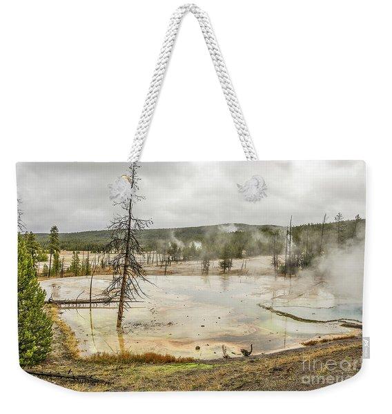 Colorful Thermal Pool Weekender Tote Bag