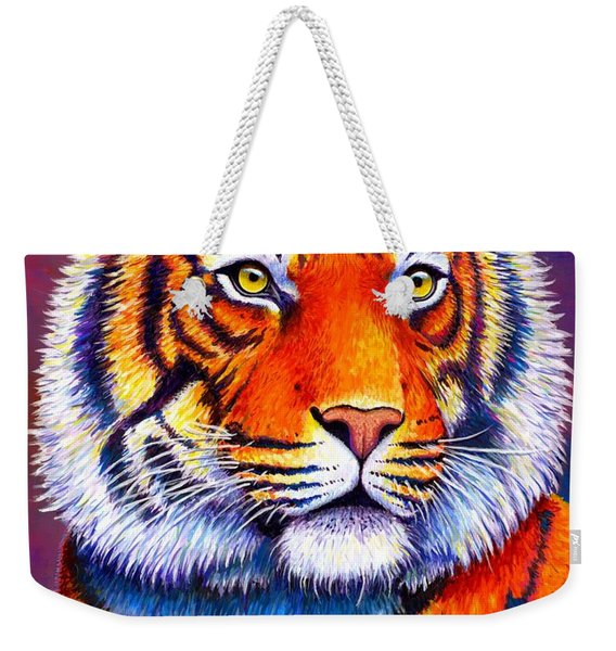 Fiery Beauty - Colorful Bengal Tiger Weekender Tote Bag