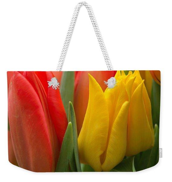 Colorful Tulip Bouquet Weekender Tote Bag